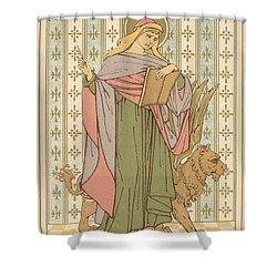 Saint Mark Shower Curtain by English School