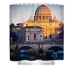 Saint Peter's Dawn Shower Curtain by Inge Johnsson