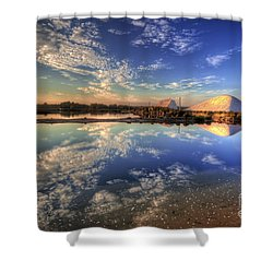 Salt Pans Of Ludo Shower Curtain by English Landscapes