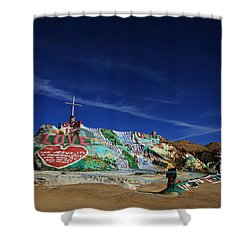 Salvation Mountain Shower Curtain by Laurie Search