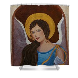 Samantha An Earthangel Shower Curtain by The Art With A Heart By Charlotte Phillips
