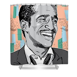 Sammy Davis Jr Pop Art Shower Curtain by Jim Zahniser