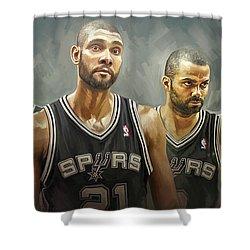 San Antonio Spurs Artwork Shower Curtain by Sheraz A