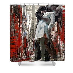 San Diego City Collage Shower Curtain by Corporate Art Task Force