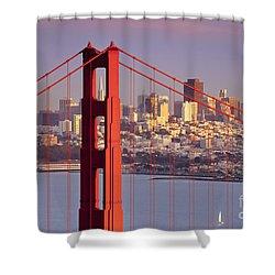 San Francisco Shower Curtain by Brian Jannsen
