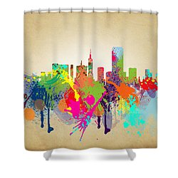 san francisco Citi Shower Curtain by Mark Ashkenazi