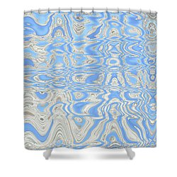 Sand And Sea Abstract Shower Curtain by Carol Groenen