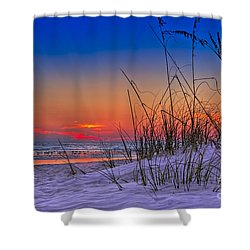 Sand And Sea Shower Curtain by Marvin Spates