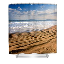 Sand Waves Shower Curtain by Evgeni Dinev