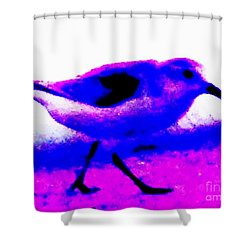 Sandpiper Abstract Shower Curtain by Eric  Schiabor