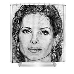 Sandra Bullock In 2005 Shower Curtain by J McCombie