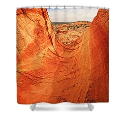 Sandstone Bowl Shower Curtain by Inge Johnsson