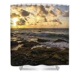 Sandy Beach Sunrise 11 - Oahu Hawaii Shower Curtain by Brian Harig