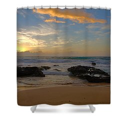 Sandy Beach Sunrise 3 - Oahu Hawaii Shower Curtain by Brian Harig