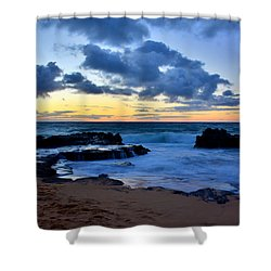 Sandy Beach Sunrise 6 - Oahu Hawaii Shower Curtain by Brian Harig