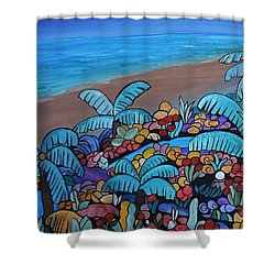 Santa Barbara Beach Shower Curtain by Barbara St Jean
