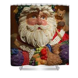 Santa Claus - Antique Ornament - 20 Shower Curtain by Jill Reger