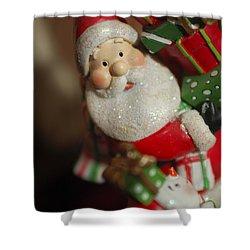 Santa Claus - Antique Ornament - 28 Shower Curtain by Jill Reger