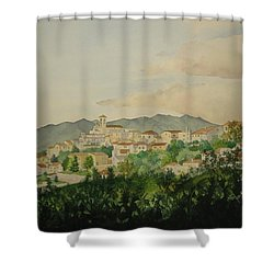Sant'ambrogio Shower Curtain by Jeff Lucas
