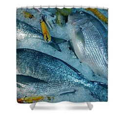 Santorini  Island Fresh  Dorados Shower Curtain by Colette V Hera  Guggenheim