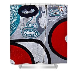 Sao Paulo Graffiti I Shower Curtain by Julie Niemela