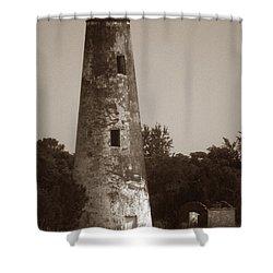 Sapelo Island Lighthouse Shower Curtain by Skip Willits