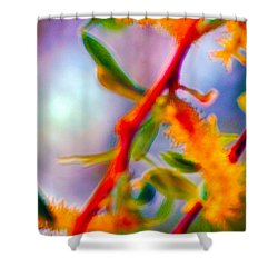 Saturated  Shower Curtain by Brent Dolliver