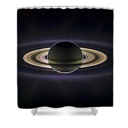 Saturn Shower Curtain by Adam Romanowicz