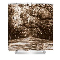 Savannah Sepia - The Old South Shower Curtain by Carol Groenen