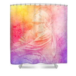 Savior  Shower Curtain by Erika Weber