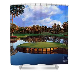Sawgrass 17th Hole Shower Curtain by Tim Gilliland