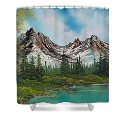 Sawtooth Saddle Shower Curtain by C Steele