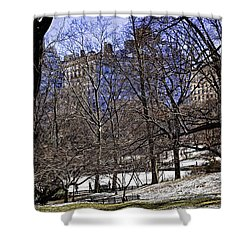 Scene From Central Park - Nyc Shower Curtain by Madeline Ellis