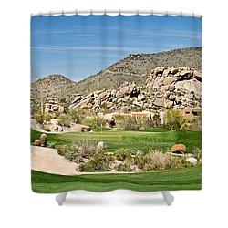 Scenic Approach Shower Curtain by Scott Pellegrin