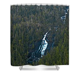 Scenic Waterfall Shower Curtain by Robert Bales