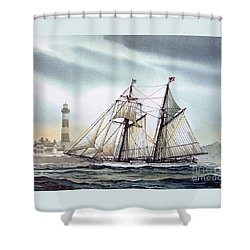 Schooner Light Shower Curtain by James Williamson