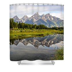 Schwabacher Landing Grand Tetons Shower Curtain by Teresa Zieba
