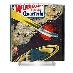 Science Fiction Cover, 1931 Shower Curtain by Granger