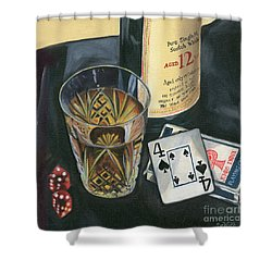 Scotch And Cigars 2 Shower Curtain by Debbie DeWitt