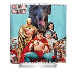 Scottish Deerhound Art - Nacho Libre Movie Poster Shower Curtain by Sandra Sij