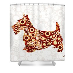 Scottish Terrier - Animal Art Shower Curtain by Anastasiya Malakhova