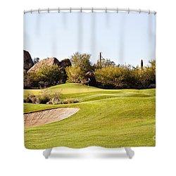 Scottsdale Golf Shower Curtain by Scott Pellegrin