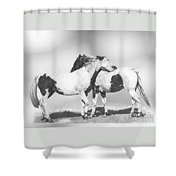 Scratch Shower Curtain by Marianne NANA Betts