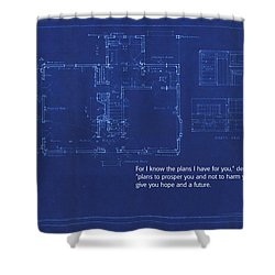 Scripture And Picture Jeremiah 29 11 Shower Curtain by Ken Smith