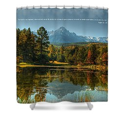 Scripture And Picture Psalm 23 Shower Curtain by Ken Smith