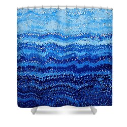 Sea And Sky Original Painting Shower Curtain by Sol Luckman