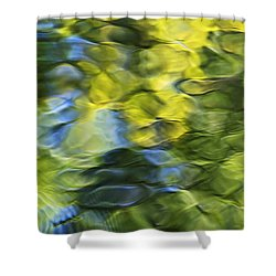 Sea Breeze Mosaic Abstract Art Shower Curtain by Christina Rollo