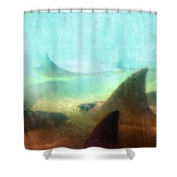 Sea Spirits - Manta Ray Art By Sharon Cummings Shower Curtain by Sharon Cummings