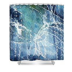 Sea Spray Shower Curtain by Linda Woods