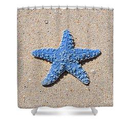 Sea Star - Light Blue Shower Curtain by Al Powell Photography USA